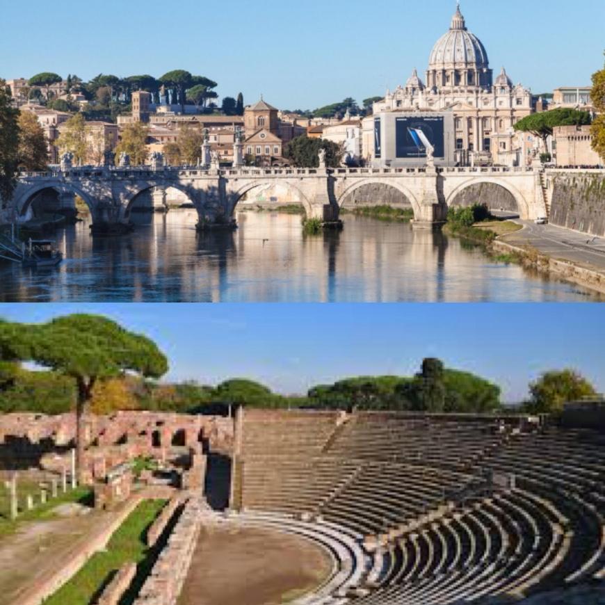 Gita in battello Roma - Ostia antica e visita agli scavi