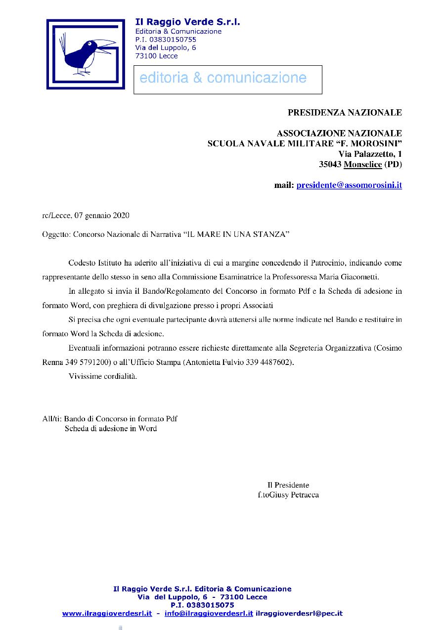 Lettera a Ass.Naz.Scuola Navale Morosini-1