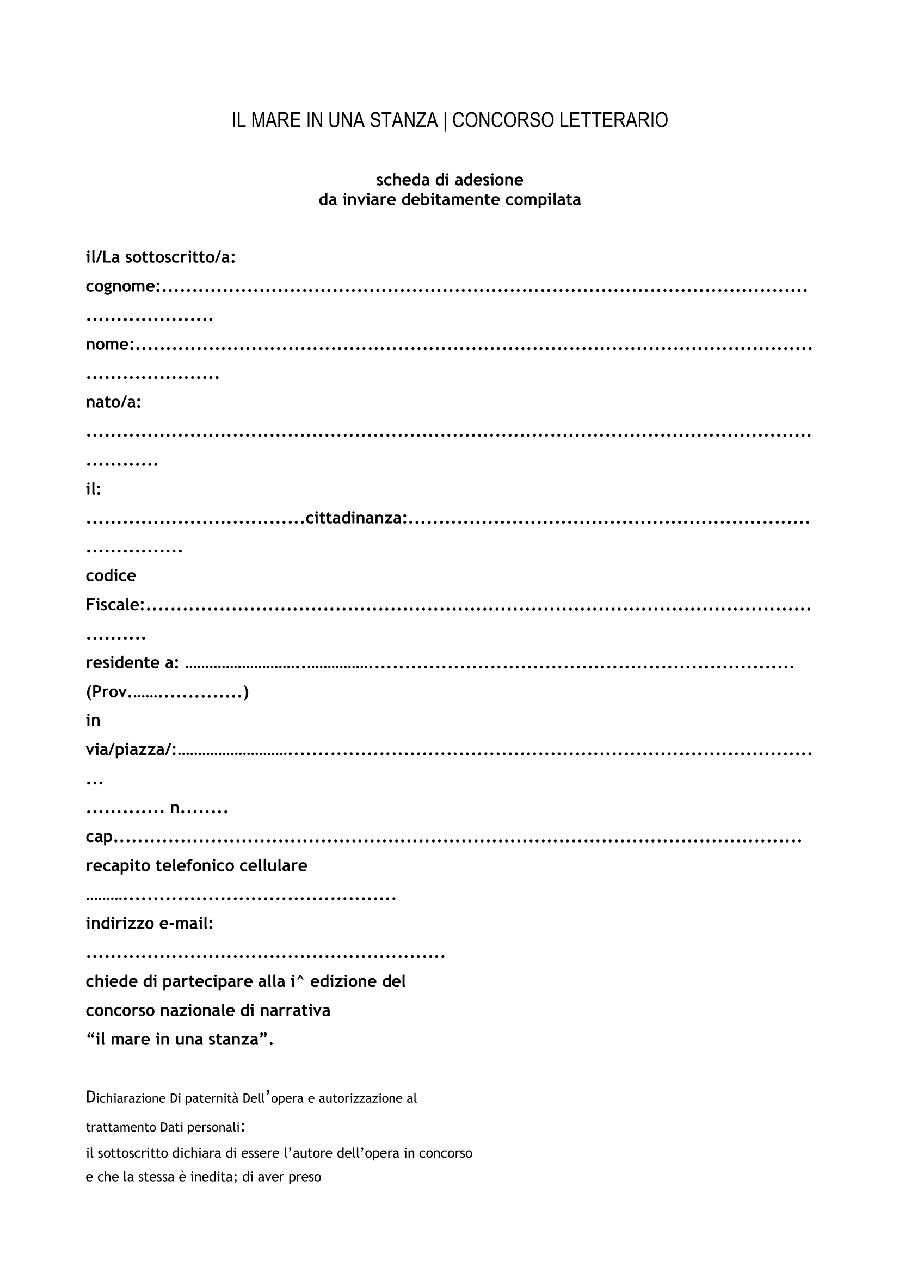 IL MARE IN UNA STANZA_scheda di adesione in word-1